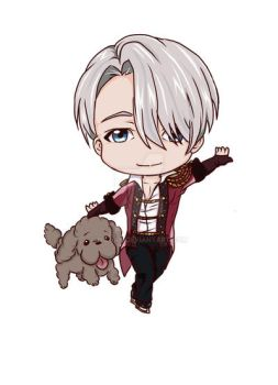 YOI chibi series Victor color by Nizhan