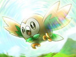ROWLET ART by neo-cscdgnpry
