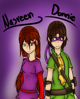 Art Trade - Nasreen and Donnie by Josy-Chan830