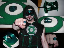 Green Lantern Costume stage 1 by ajb3art
