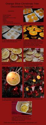 Orange Slice Christmas Tree Decoration Tutorial by claremanson