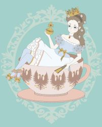 Sissi in a cup of tea by sachiko-hime