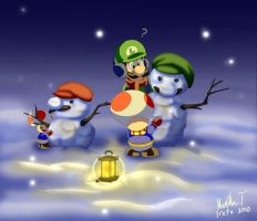 Two Snowmen by Irete