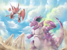 [C] Nidoking vs Scizor!