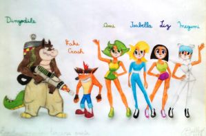 Mutants in Crash Bandicoot 3 by Bel-Star