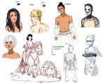 Echtra Character Concepts by Chloeeh