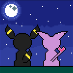 Umbreon and Espeon by Shoktherail