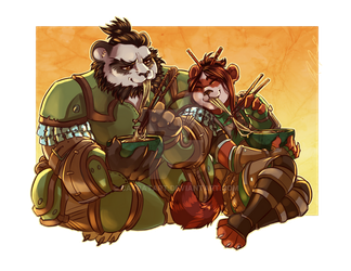 COMMISSION: Teelo and Li by Cat-Bat