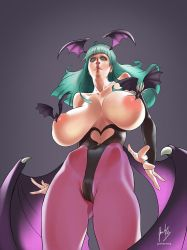 Morrigan mega boobs |Commission by javiermtz