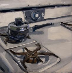 White Stove Black Pot by AaronMiller