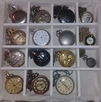 My pocket watch collection #5 by earthbouds