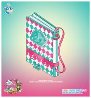 Kawaii Teal Journal by KawaiiUniverseStudio