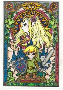 The Legend of Zelda Stained Glass by Haamurabai