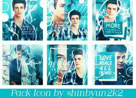 [Artwork] 3.2015 - Pack Icon Grant Gustin in Blue by shinbyun2k2