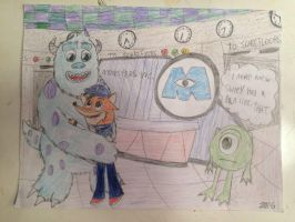 Ben meets Sulley and Mike by Kirbyfan1234 by BenBandicoot