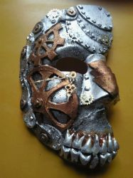 My first SteamPunk Mask by Maladict12
