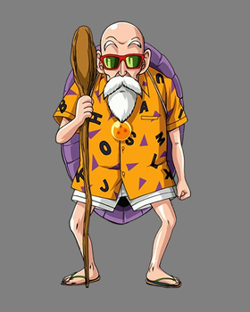Master Roshi Cosplay Source by SaintDmitri