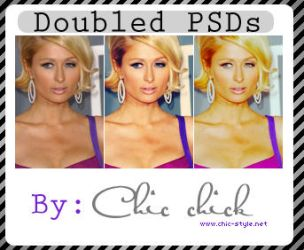 2 PSD featuring: Paris Hilton by Chic-Chick
