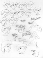 Facial Expressions and Doodles by jimmysworld
