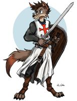 Coyote Knight Templar by TheLivingShadow