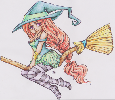 Broomstick Coloration by ChibiMusouka