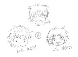 DMC chibi head doodles by KeyToOblivion13