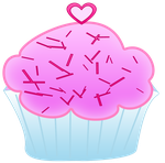 Pink Cupcake Clipart by WordDraw