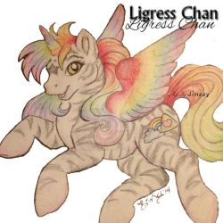 Ligress -my Original Char- drawn by Jinxxy by darkligress
