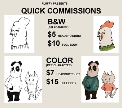 Commission Information by MissFluffyKitty