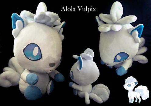 Alola Vulpix Plush by threadsie