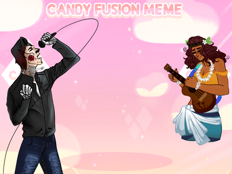 Candy Fusion Meme: Azrael and Nalani by DaemonicMelody