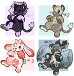 [OPEN 3/4] Plush Adoptables! by KovviiAdopts
