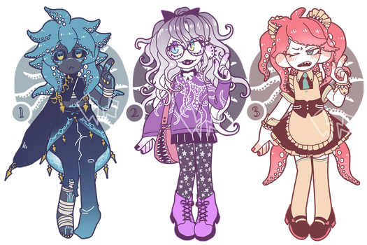 [CLOSED] TENTACLES ADOPT PILE by fleshcell