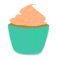 Teal Cupcake by Wisp-Stock
