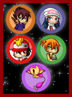 Pokemon buttons by Lyndarsia