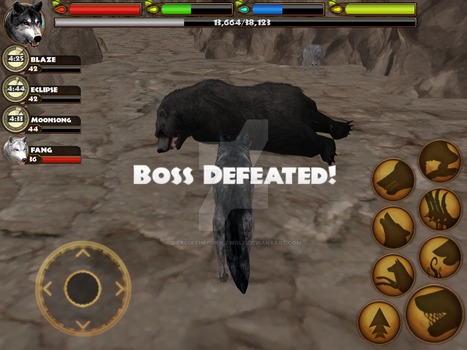 Boss Defeated: Grizzle by DarciathePurpleWolf