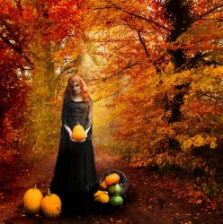 I Met a Witch on an Autumn Day by Queen-of-Asgard