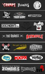 punk and psychobilly logos by FlaCake