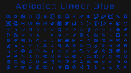 [IconPack] Adiccion linear Blue by Agelyk