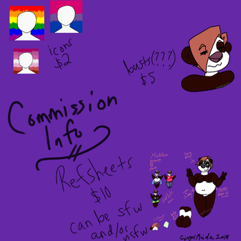 Commission info by GingerMaiden