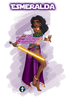 Jedi Disney Lady Esmeralda by White-Magician