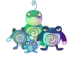 Poliwag Evolution by awokenbyacloud