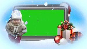 Green Screen Christmas Frame by silviubacky