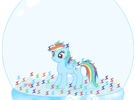 The Snow Globe of Rainbow Dash by Rose-Beuty