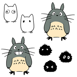 Totoro Charms by LexisSketches