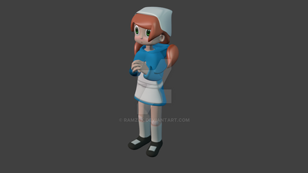 Orange Haired Gal [3Dfied] by Ramzi-K