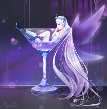Angel In A Glass by RoseSense