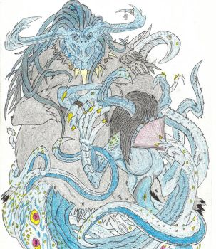 Mask of Nyarlathotep, The Bloated Woman by Beastrider9