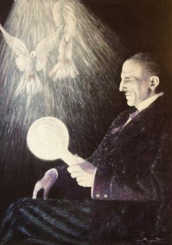 Nikola Tesla by painter-misic