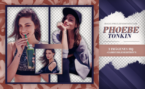PACK PNG 319| PHOEBE TONKIN by MAGIC-PNGS